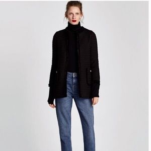 Zara | Black Tweed Coat M